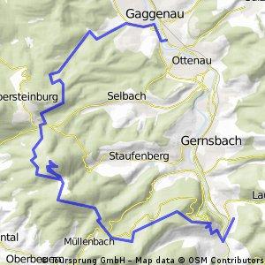 Arbeitsweg lang Scheuern - Merkur-Luisebrunnen-Gaggenau