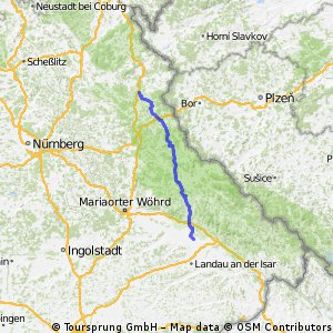 Pfingstsonntag Anfahrt nach Straßkirchen