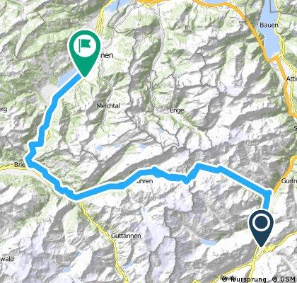 1. Alpentour/5. Etappe: Susten- und Brünig-Pass