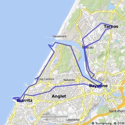 Fin d'année à Vélo : TARNOS - BIARRITZ