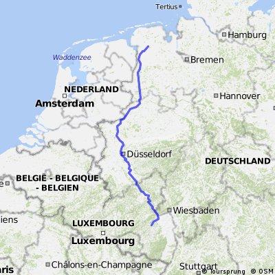 Urlaubsroute Odernheim nach Hesel