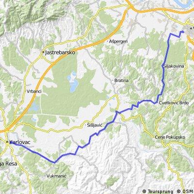 Rijeka - kroatisches Bergland - Zagreb (7. Karlovac - Zagreb)