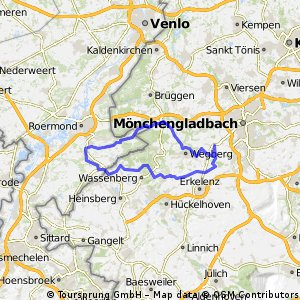 RTF Rheindahlen Zweiländerfahrt 72,7km