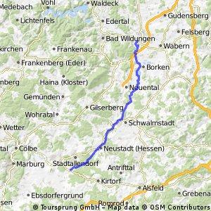 3- Niederklein - Holzheim Fritzlar 50,9 km