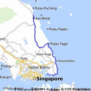 de Mersing à Singapour