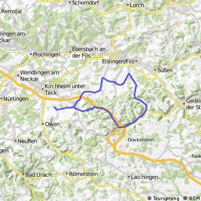 Feierabendtour 55km (Nabern- Schlat-Nabern)