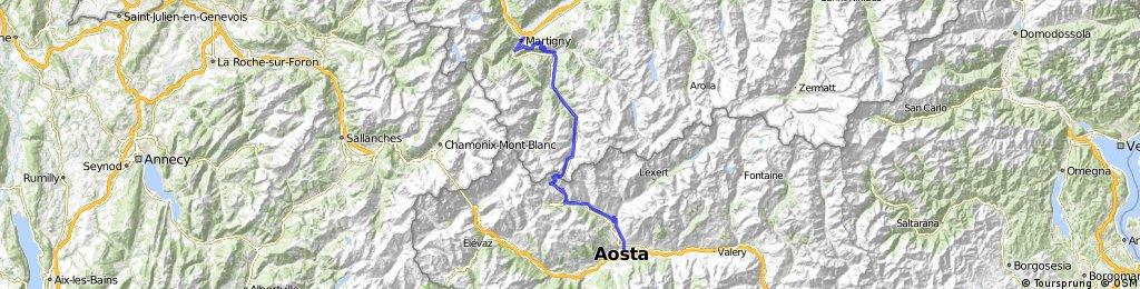 Martigny - Vens - Sembrancher - Aosta