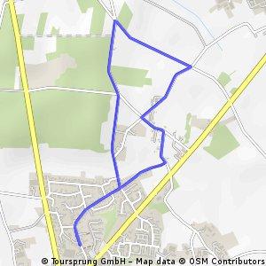 Kleine 4 km Winter-Joggingrunde für Rita