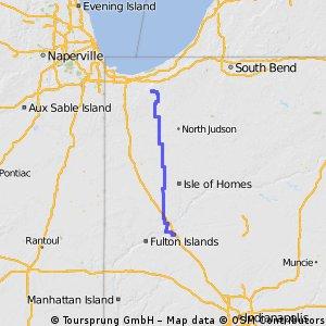 Valpo to Lafayette Indiana Route 1