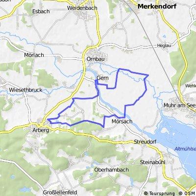 Arberg - Wiesmeth - Mörsach - Arberg
