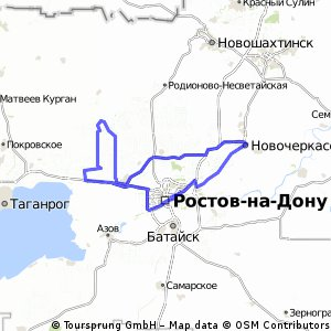Cycling routes and bike maps in and around Rostov-on-Don | Bikemap ...