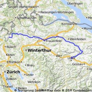 10. Etappe Niederuzwil-Flaach am Rhein