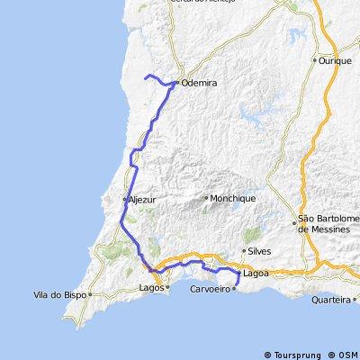Option 2, Day 9. Armacao de Pera to Herdade-A-de-Mateus