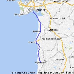 Option 2, Day 10. Herdade-A-de Mateus to Setubal