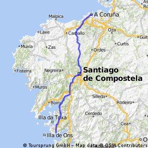 Option 2, Day 16. Sanxenxo to A Coruna