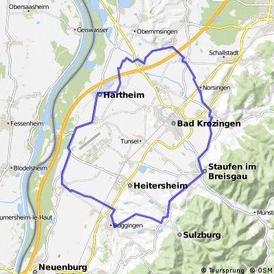 160  Durchs nördliche Markgräflerland: liebliche Hügel und weite Ebene