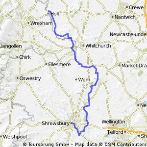 Shrewsbury to Farndon