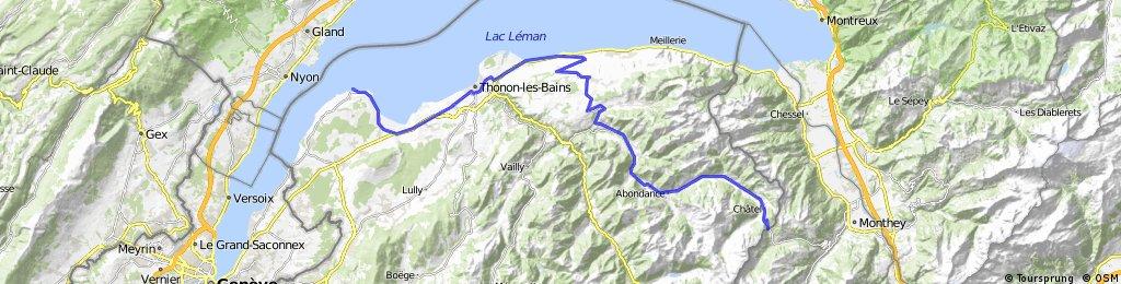Alpine Tour: Yvoire - Chatel