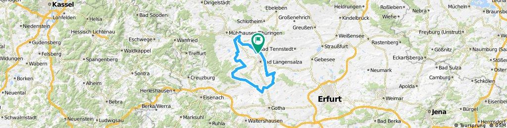 Thamsbrück - Craula - Thamsbrück - 75 km