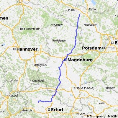 Thamsbrück - Magdeburg - Pritzwalk