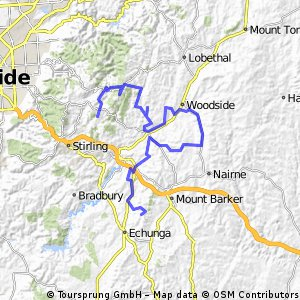 Cycling routes and bike maps in and around Adelaide Hills Bikemap