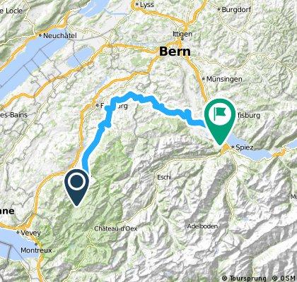 Alpine Route: Gruyère - Thun
