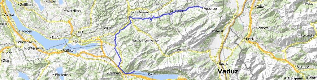 Alpine Tour: Weesen - Appenzell