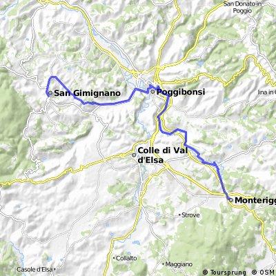 San Gimignano - Monteriggioni (variante francigena a valle)