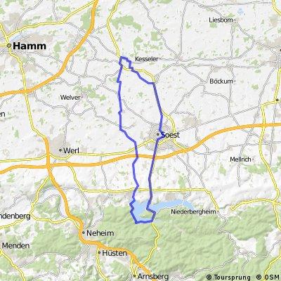 Lippetal - Paradiese - Möhnesee - Delecke- Soest - Wiltrop