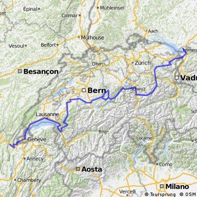 Alpenpanorama-Route, Bellegarde-sur-Valserine - Lindau