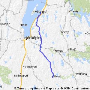 Tour 2016 - 25. Tag / Sävsjö - Gränna