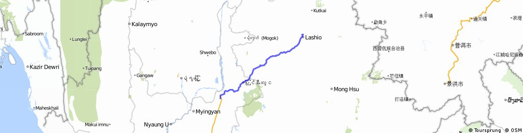 mandalay to lashio