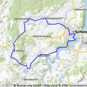 Radtouren Alprnvorland - Auerbergland