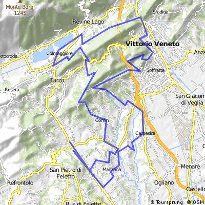Col di Stella,via dell'acqua,Vittorio Veneto e la Bigontina