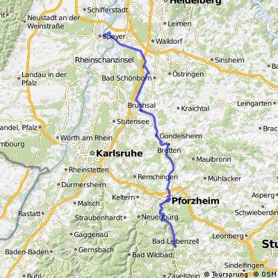 DT16 Speyer - Bad Liebenzell