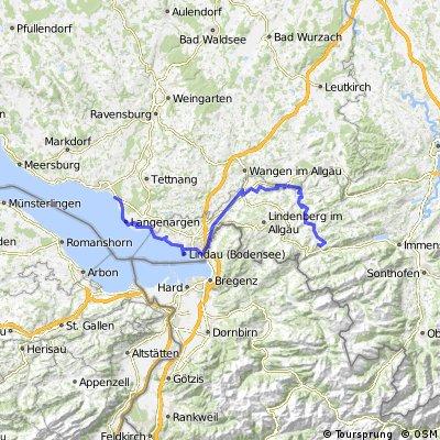 DT20 Friedrichshafen - Lindau - BoKö-Radweg - Oberstaufen im Allgäu
