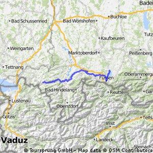 DT21 Oberstaufen - Immenstadt - Füssen -  Roßhaupten