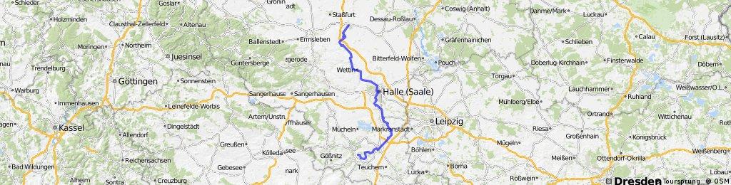 DT30 Naumburg - Merseburg - Halle - Rothenburg - Bernburg