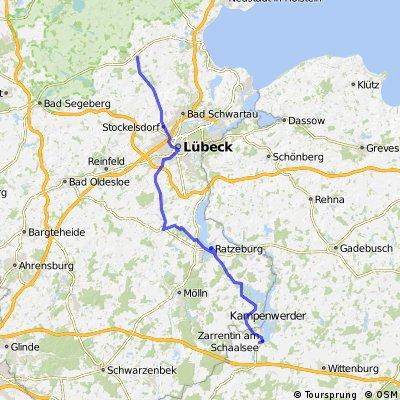 DT34 Zarrentin - Ratzeburg - Berkenthin - Lübeck - Curau - Ahrensbök