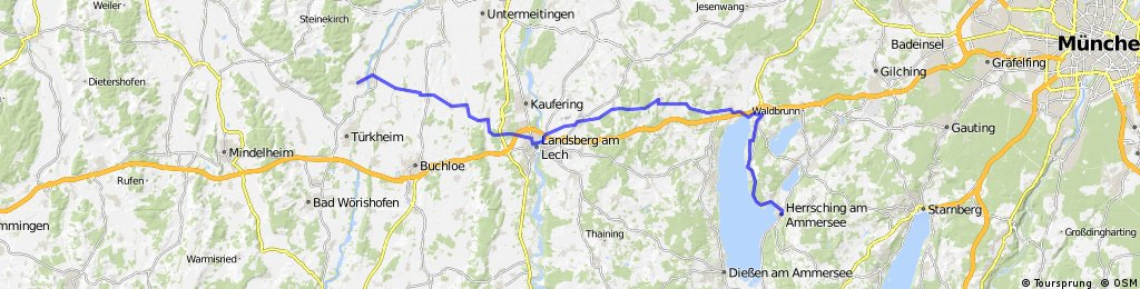 Ettringen nach Herrsching ca.60KM Tour 1