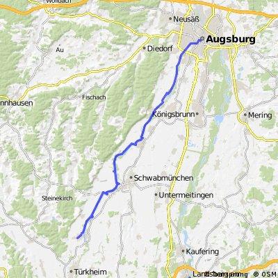 Augsburg nach Ettringen ca.42KM.Tour 3
