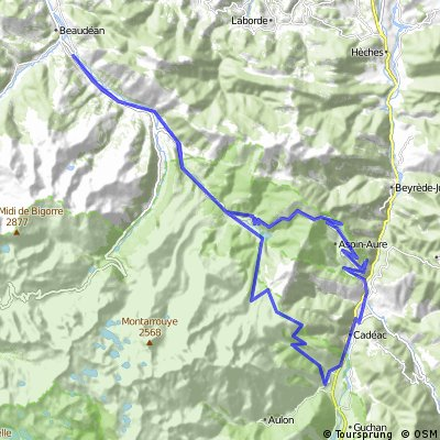 Hourquette d'Ancizan y Col d'Aspin 65 km, 1720+