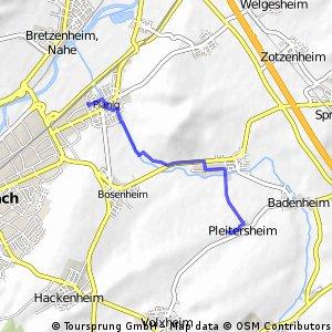 Joggingstrecke Arbeit - nach Hause 6,27 KM