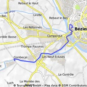 op en neer naar Béziers