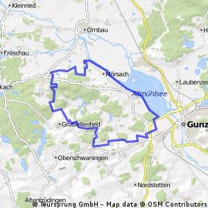 Arberg - Großlellenfeld - Altmühlsee