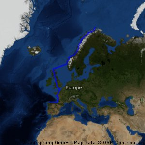 0.0 Gesamttour: Nordkapp - Gibraltar