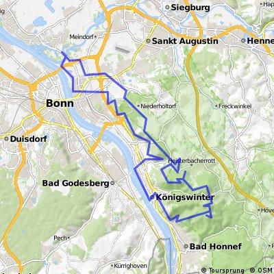 Gipfelknacker-Rundtour im Siebengebirge
