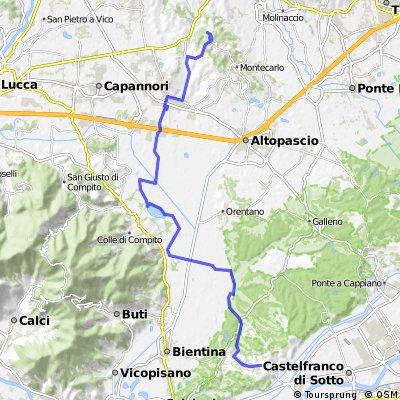 da S. Maria a Monte alla quercia delle streghe a S. Martino in Colle (LU)
