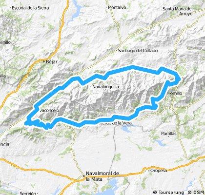 Circular a Gredos en 4 días (Jerte, Piornal, La Vera, Puerto el pico, Valle del tormes, Tornavacas)