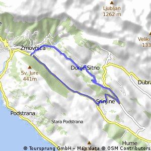 Donje Sitno-Srinjine-valley small steep hilly trainig